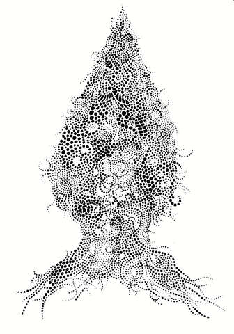 "Amy Pilkington, ""Self in Dots Drawing"""