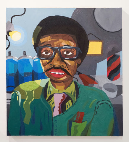 "Azikiwe Mohammed, ""James Simmons, Barber"" SOLD"