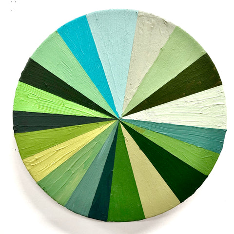 "Kirstin Lamb, ""Green color wheel"""