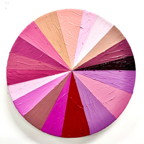 "Kirstin Lamb, ""Pink Color Wheel"""