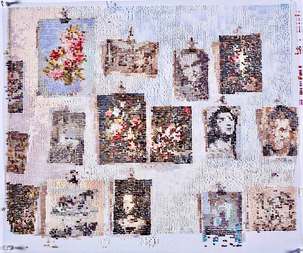"Kirstin Lamb, ""After Studio Wall with Clips"""