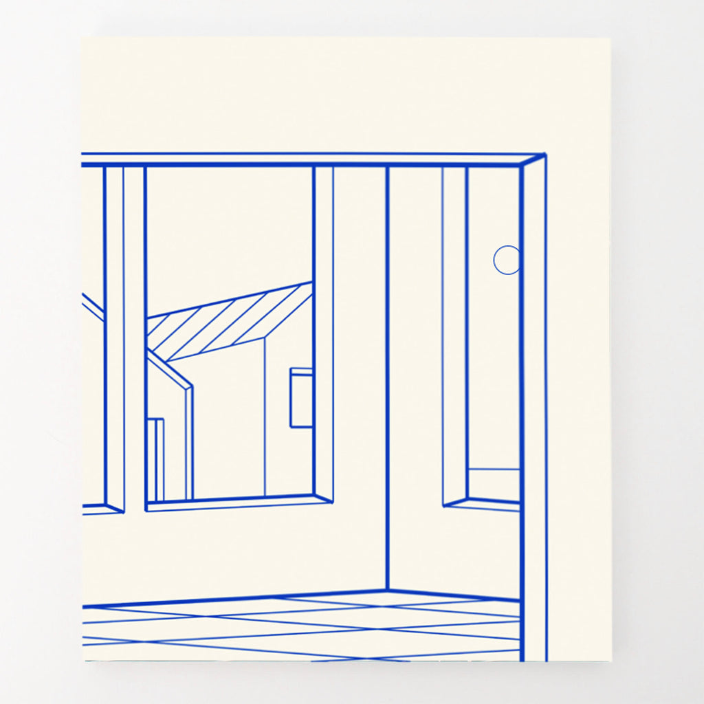 "Heath West, ""Bungalows (White & Blue)"