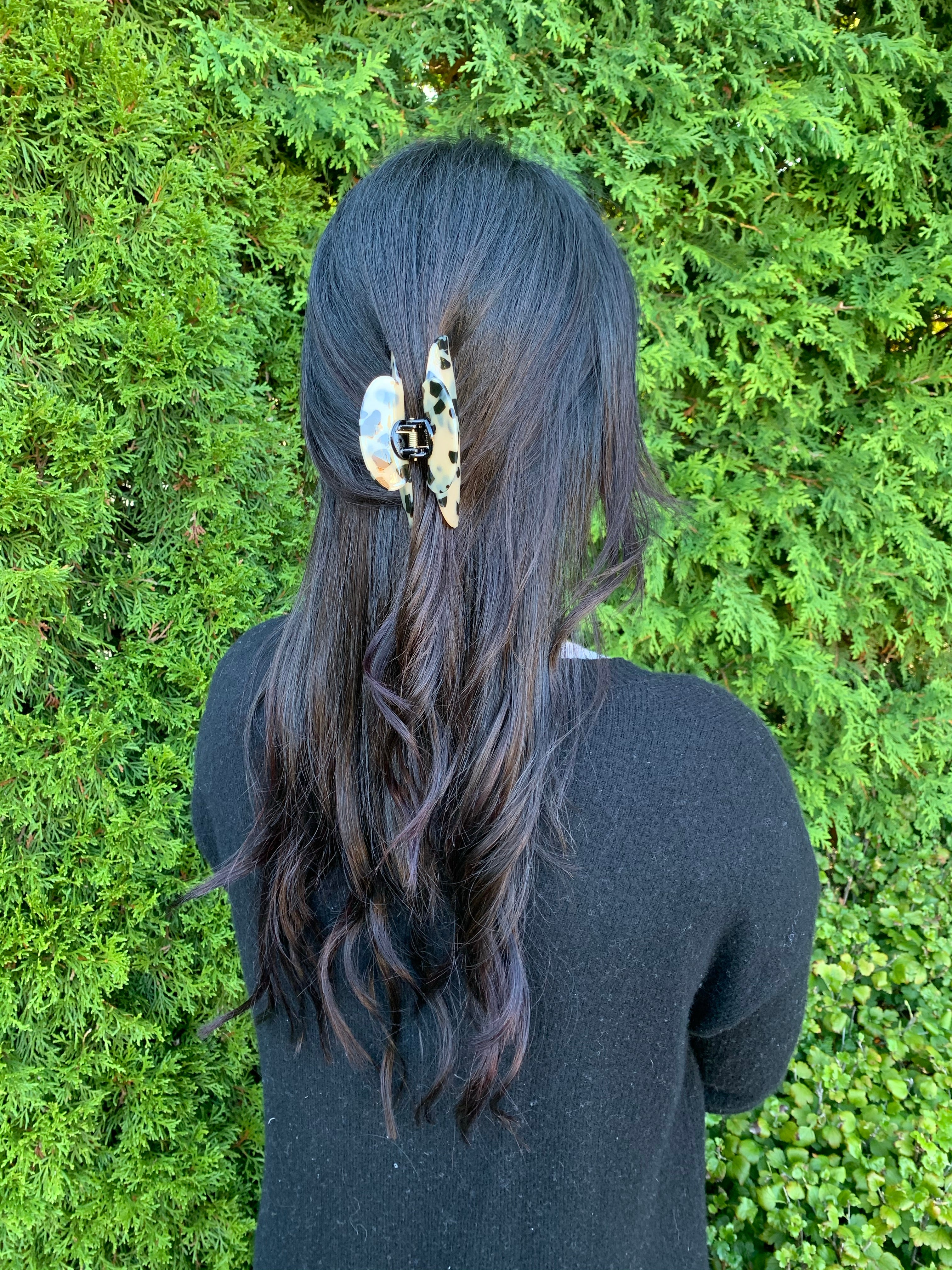 Celine leopard claw clip