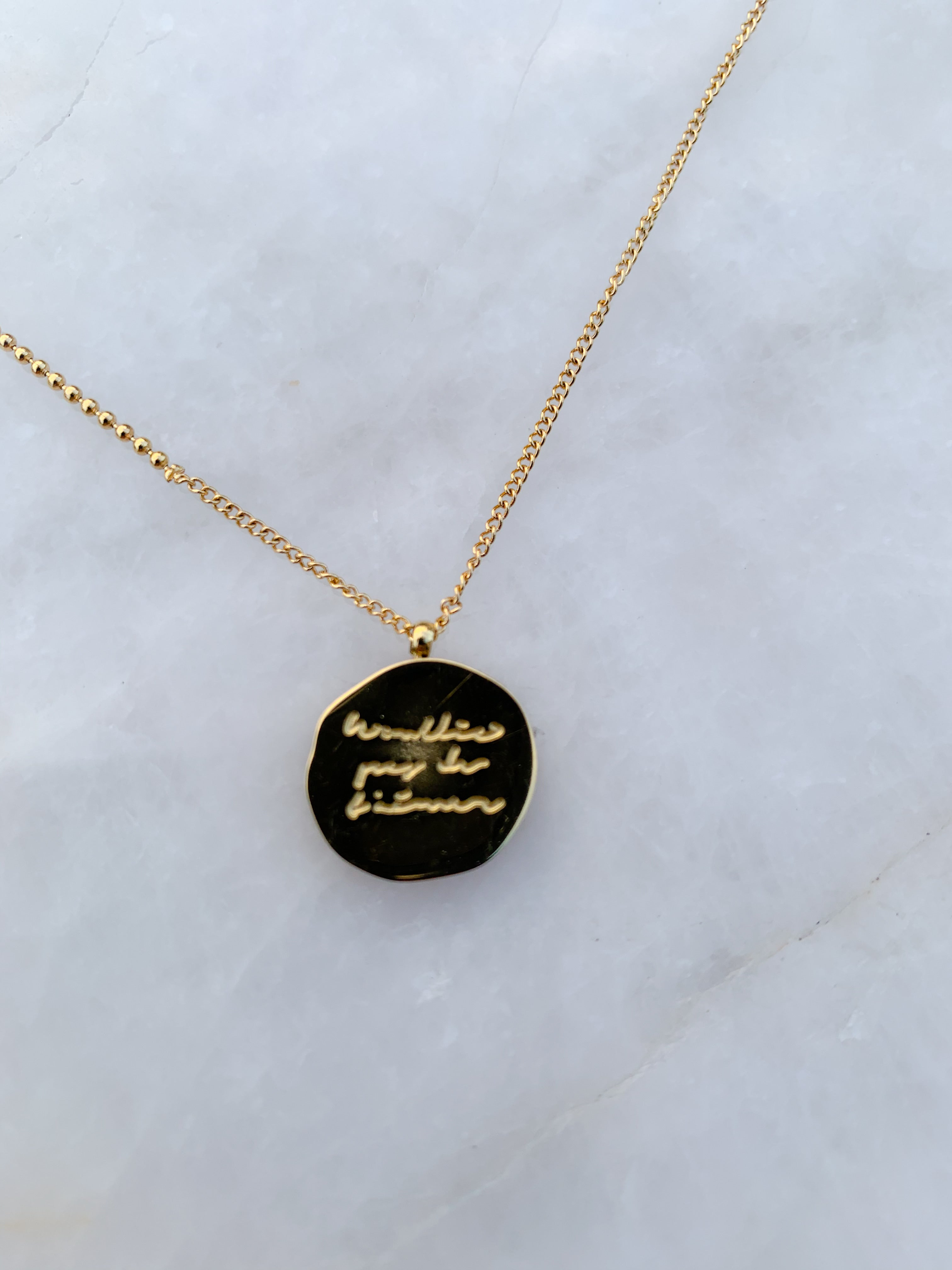 Whitney coin necklace