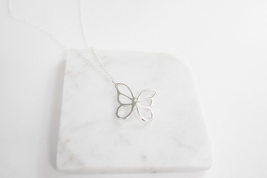 Big butterfly necklace
