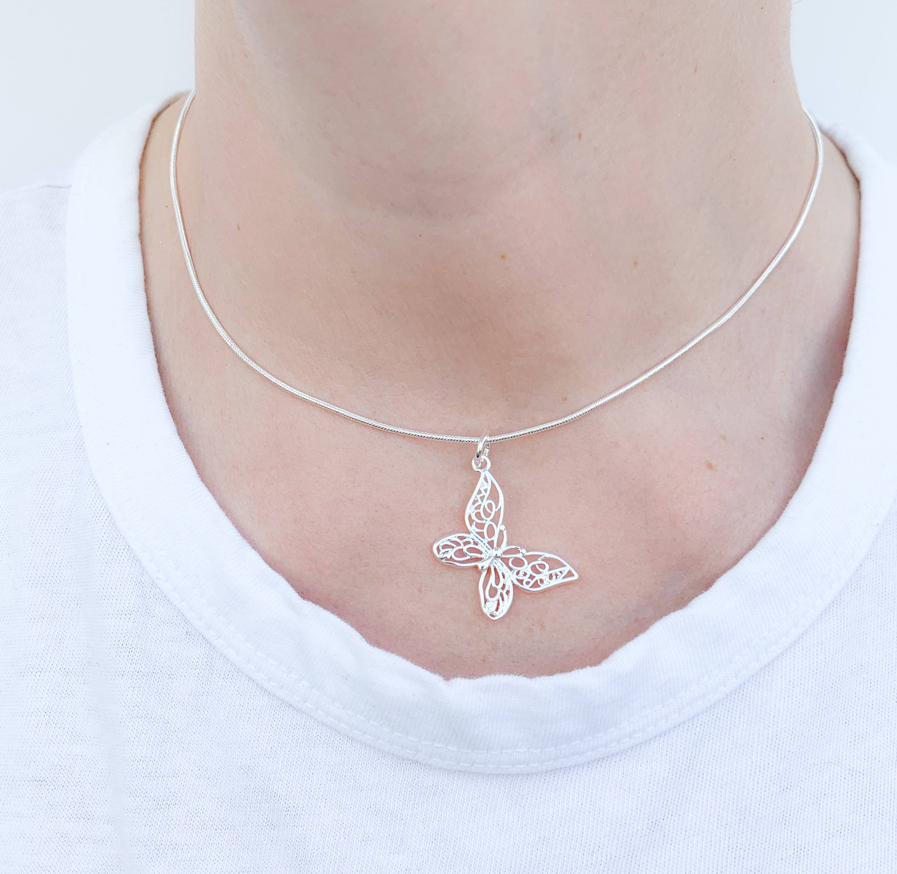 Annabella butterfly necklace