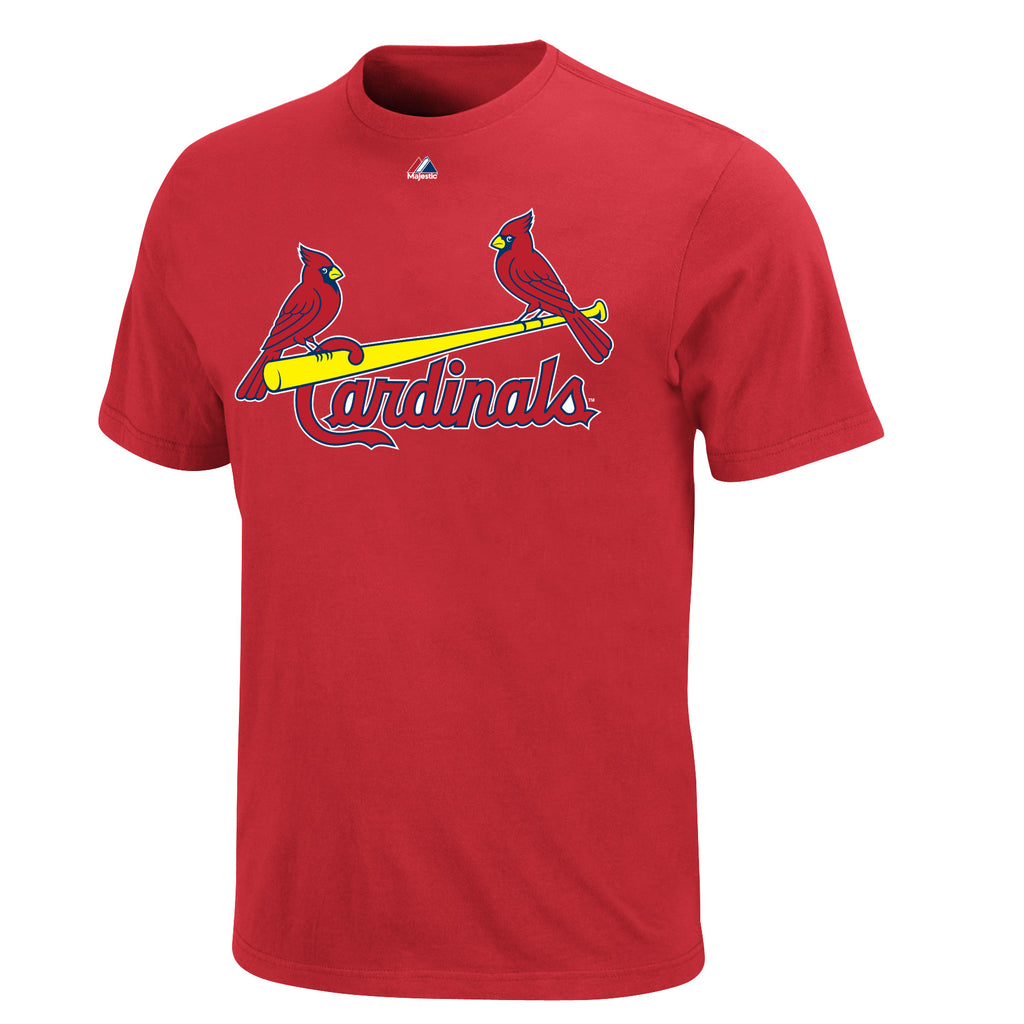 St. Louis Cardinals Majestic MLB Wordmark Men T Shirt Red