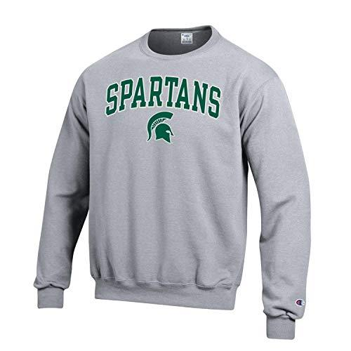 Champion Michigan State NCAA Crewneck Sweatshirt, Green - TeeShirtUniversity.com