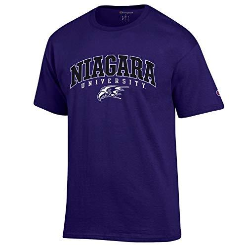 Champion Niagara University with Logo NCAA T-Shirt Purple - TeeShirtUniversity.com