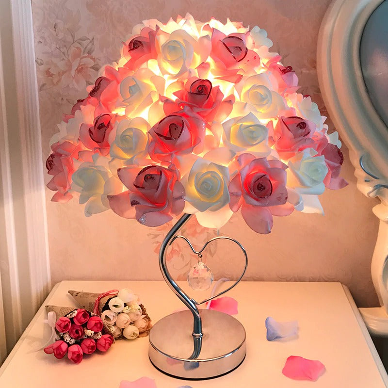 European Table llamp Rose Flower LED Night Light
