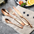 Jet Black Flatware 100003310 Empirify Store Rose Gold 4 Pcs