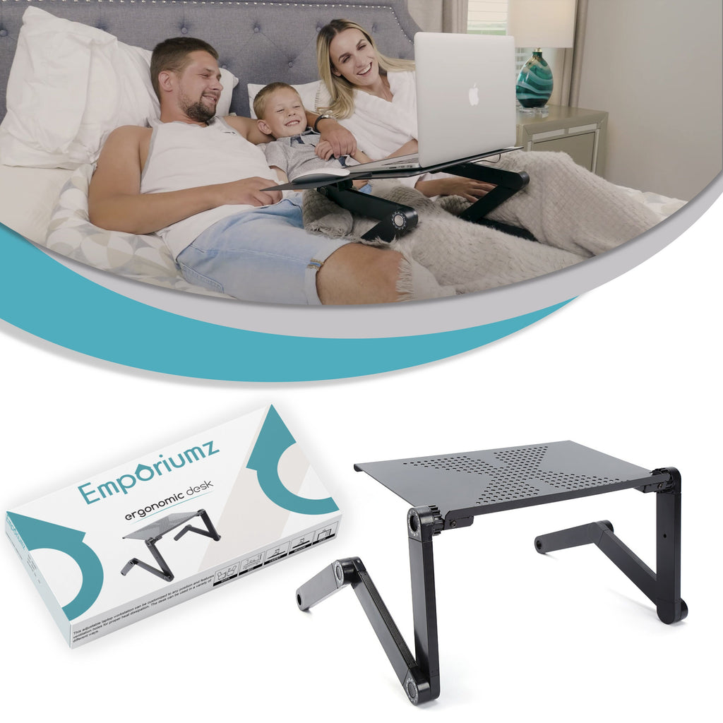 Emporiumz® Ergonomic Desk Emporiumz Store HEIGHT SETTING & ROTATE 360 DEGREES