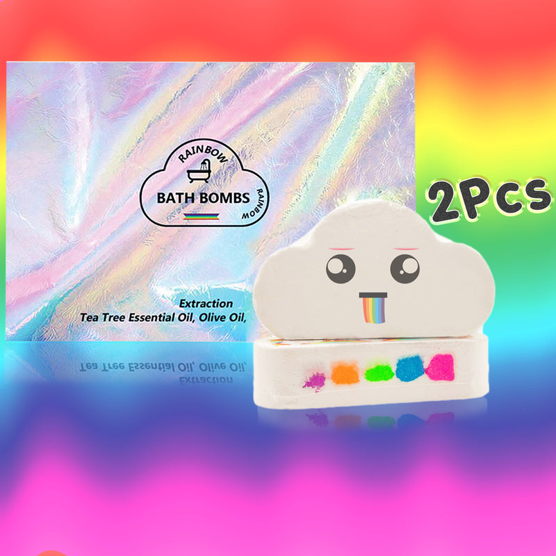 EMPORIUMZ™ RAINBOW BATH BOMB 200001377 Emporiumz Store 2 x Friends Pack