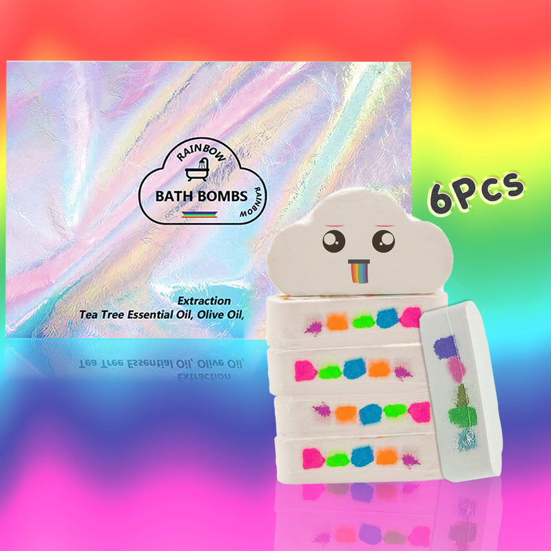 EMPORIUMZ™ RAINBOW BATH BOMB 200001377 Emporiumz Store 6 x Family & Friends Pack