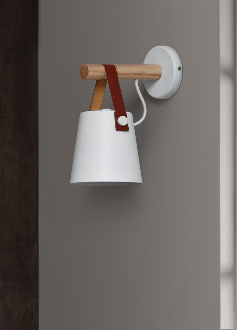Nordic Wooden Hanging Wall Lamp