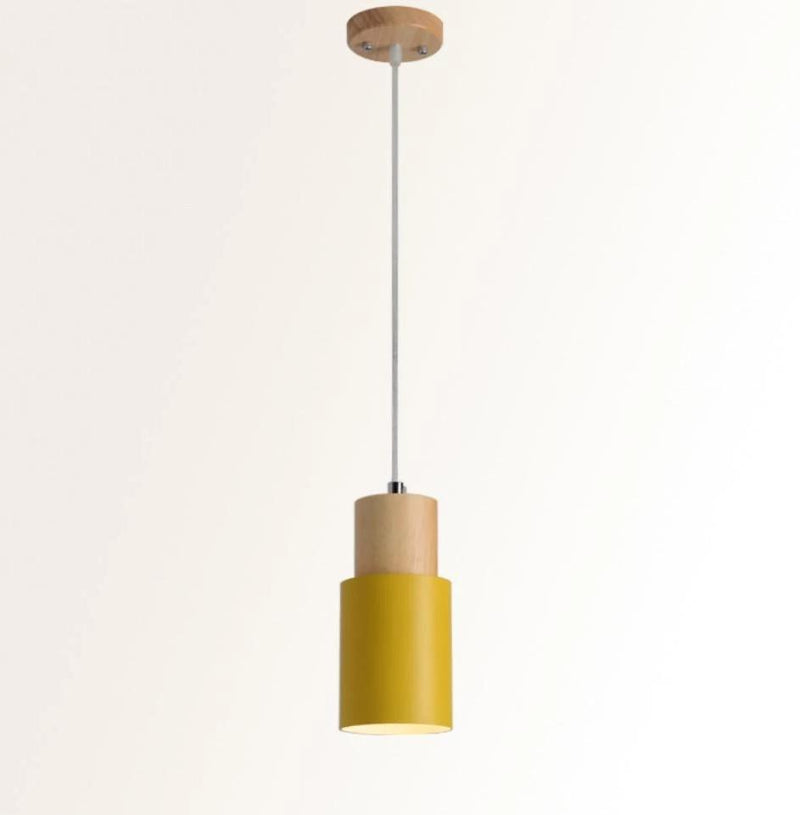 Designer Nordic Wooden Base Hanging Light
