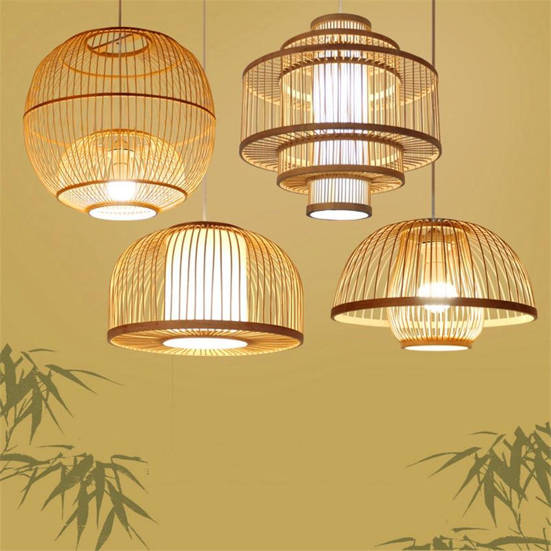 Calico - Bamboo Pendant Hanging Light