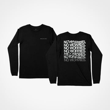 Abstract Jesus L/S <br> (Black)