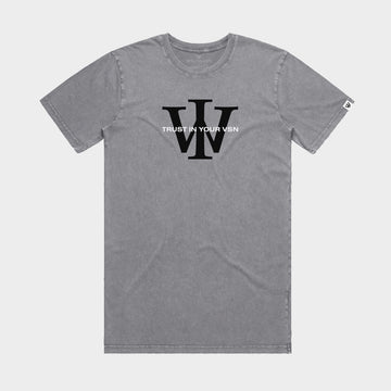 Grey/Black Stone Wash Tee