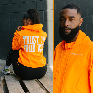 *Orange Windbreaker*
