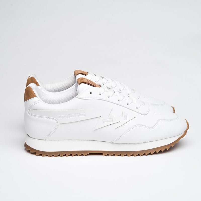 WHITE & NATURAL RUBBER THUNDER SNEAKERS - Clickstore