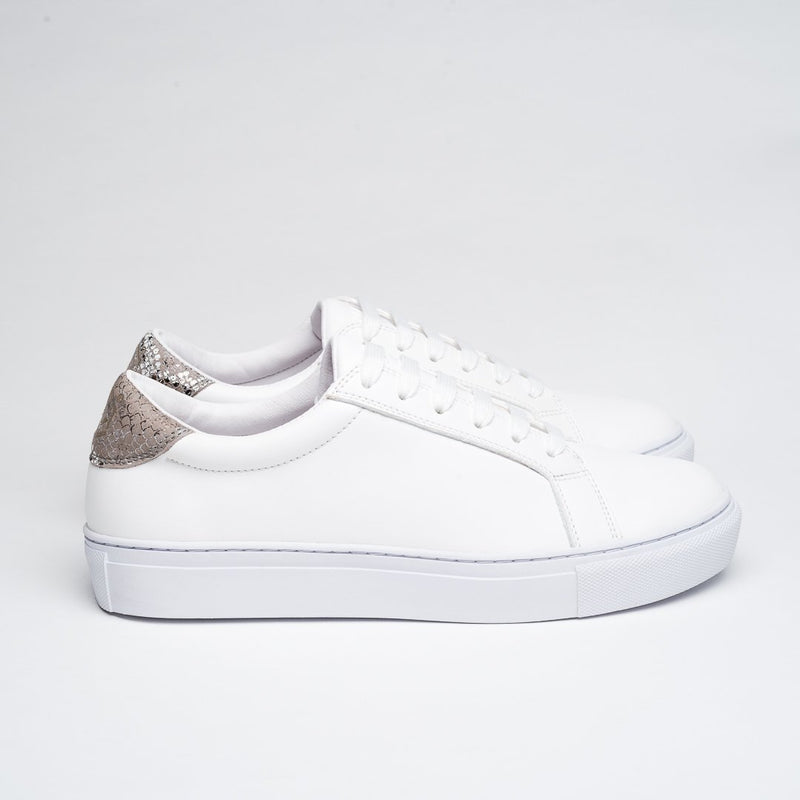 PERFECT WHITE ANIMAL PRINT DRESSY SNEAKERS - Clickstore