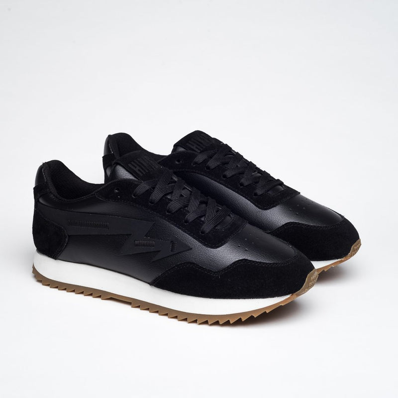 BLACK SUEDE LAB/089 NATURAL RUBBER SNEAKERS - Clickstore