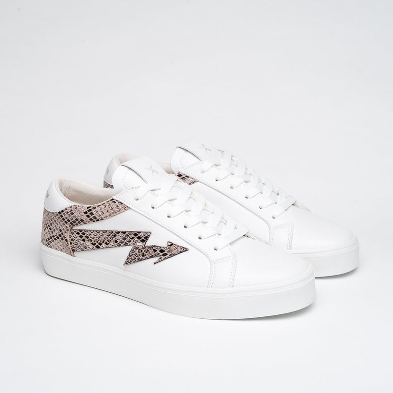 WHITE & ANIMAL PRINT FOXY SNEAKERS - Clickstore