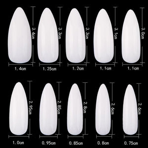 Long Almond Full Cover Nails -jargod