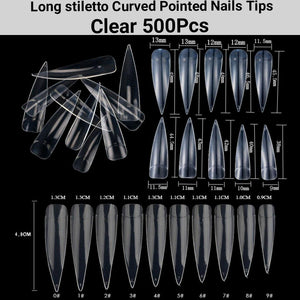 False Nail Tips 500Pcs-jargod