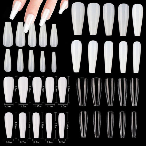 Long Ballerina Full Cover Artificial False Nail Tips