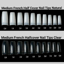 Load image into Gallery viewer, Medium French Half Cover Nail Tips 500 pieces in a bag