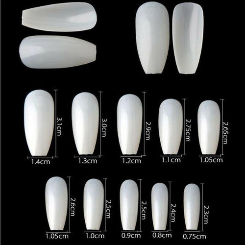 Coffin Shape Fake Nail Tips-jargod