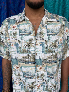 Hawaiian Lighthouse Printed Shirt
