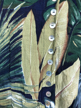 Load image into Gallery viewer, Tropical Leaf Button Up Skirt