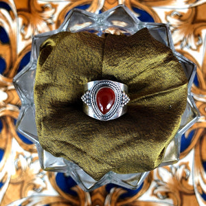 Carnelian Gemstone Ring