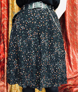 Cute Confetti Print Knee-Length Skirt