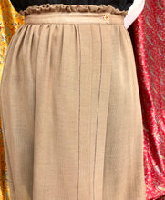 Load image into Gallery viewer, Beige Button Up Wrap Skirt