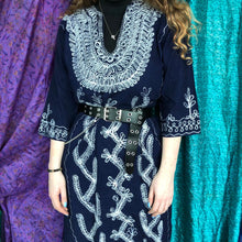 Load image into Gallery viewer, Embroidered Kaftan Dress