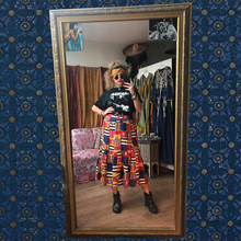 Load image into Gallery viewer, Marine Print Midi Skirt