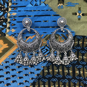 Indian Jhumka Inspired Drop Earrings