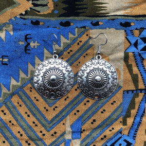 Tibetan Inspired Pendant Earrings