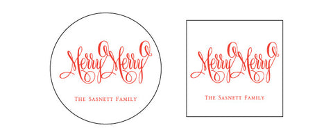 Be Merry Gift Tag