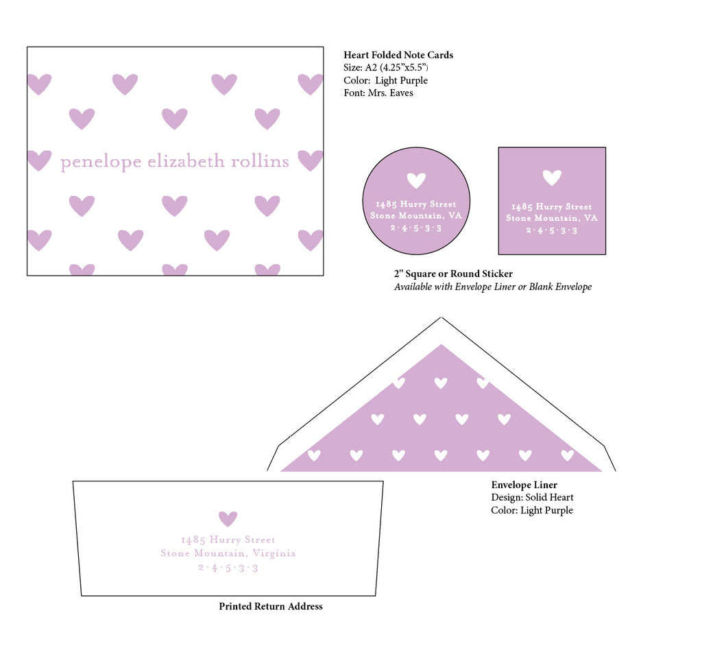 Heart Folded Note Cards