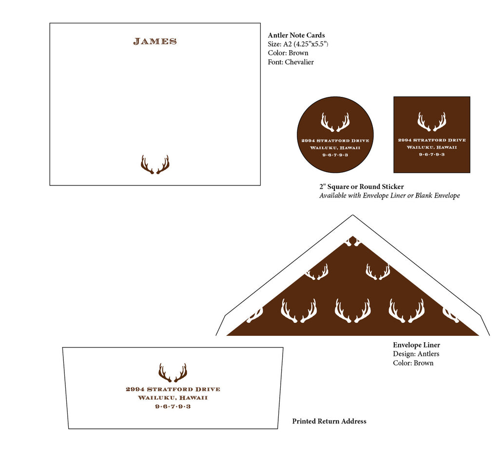 Antler Note Cards