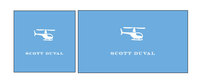 Helicopter Calling Card