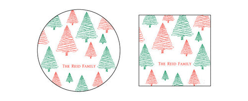 Christmas Tree Pattern Gift Tag