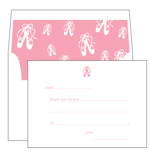 Ballet Slippers Note Cards