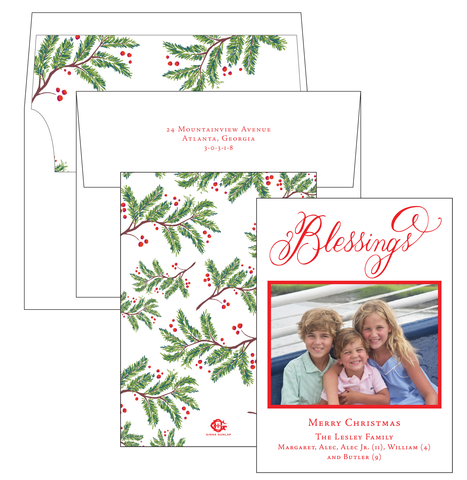 Christmas Tree Border Card