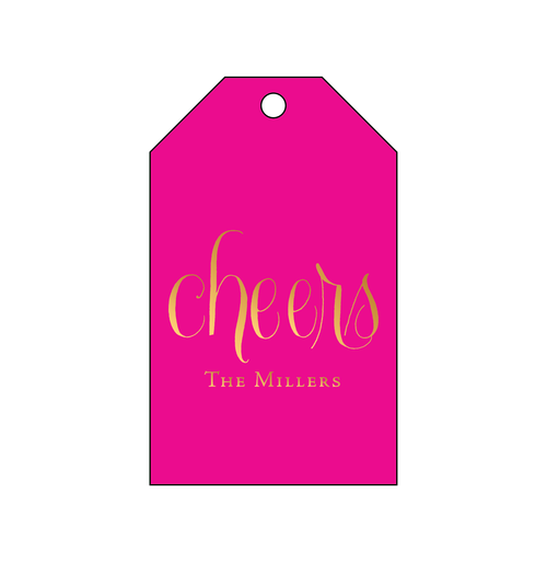 Cheers Foil Gift Tag